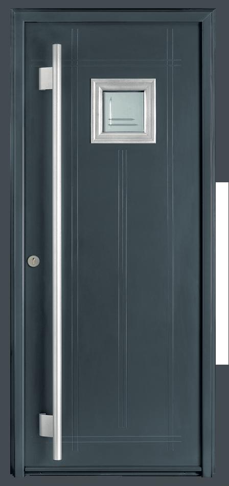 Menuiseries aluminium porte d 39 entr e en alu nacre c t for Epaisseur porte d entree